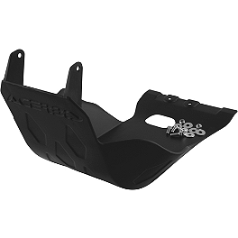 Acerbis Skid Plate - Black - 2008 KTM 450XCW Pro Moto Billet Kick-It Kick Stand - Black