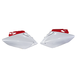 Acerbis Side Panels - 2006 Honda CR85 Big Wheel Acerbis Fork Cover Set