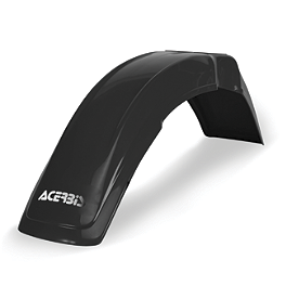 Acerbis Universal Front Fender - Black - 2003 Kawasaki KX250 Acerbis Spider Evolution Disc Cover With Mount Kit