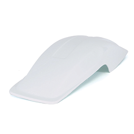 Acerbis Universal Rear Fender - White - Acerbis Mud Flap Black