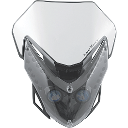 Acerbis Vision LED Headlight - 2012 Yamaha YZ125 Acerbis Spider Evolution Disc Cover With Mount Kit