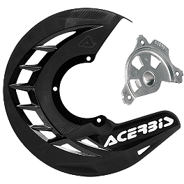 Acerbis X-Brake Disc Cover With Mount - 2002 Kawasaki KX125 Acerbis Swing Arm Rub Plate - Black