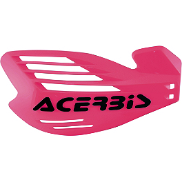 Acerbis X-Force Handguards - Pink - Acerbis Chain Guide - White