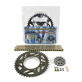 AFAM 520 Sprocket And Chain Kit - Quick Acceleration - 2008 Kawasaki EX650 - Ninja 650R Vortex Sprocket & Chain Kit 520 - Silver
