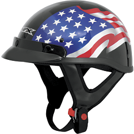 AFX FX-70 Helmet - Flag - Skid Lid Original Helmet - USA Flame Eagle