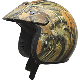 AFX FX-75 Helmet - Camo - Blingstar Park Brake Block Off - Polished Aluminum