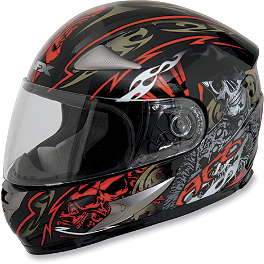 AFX FX-90 Helmet - Shade - GMAX GM48 Full Face Helmet - Shattered