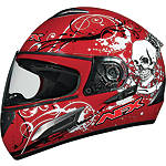 AFX FX-100 Helmet - Skull - Full Face Dirt Bike Helmets