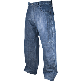 AGVSport Shadow Kevlar Blue Jeans - Icon Strongarm 2 Enforcer Pants
