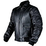 AGVSport Bomber Leather Jacket - AGVSport Motorcycle Riding Gear
