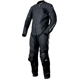 AGVSport Valencia Leather One-Piece Suit - Olympia Stealth One-Piece Mesh Suit