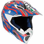 AGV AX-8 EVO Helmet - Flame - AGV ATV Products