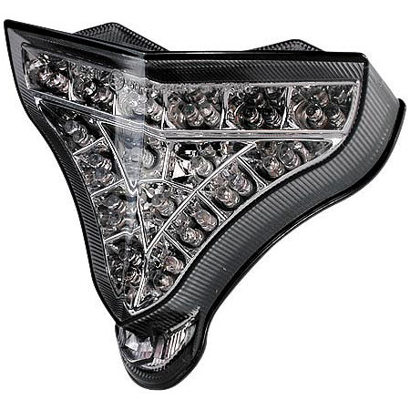 AKO Racing LED Integrated Tail Light - Chrome-Smoke