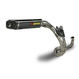 Akrapovic Evolution Full System Exhaust - Carbon Fiber - 2012 Ducati 848 EVO FMF Apex Stainless Full System Exhaust - Carbon