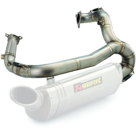 Akrapovic Exhaust Header - Titanium - Main