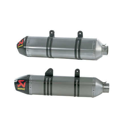 Akrapovic Evolution SXS Muffler with Spark Arrestor - Main