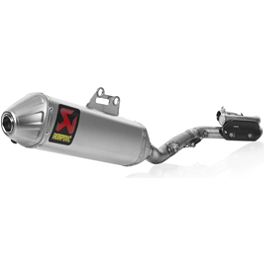 Akrapovic Evolution Titanium System With Spark Arrestor - 2012 Suzuki RMZ450 Akrapovic Slip-On Line Titanium Exhaust With Spark Arrestor