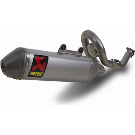 Akrapovic Evolution Titanium System With Spark Arrestor - 2013 Yamaha YZ450F Akrapovic Slip-On Line Titanium Exhaust With Spark Arrestor