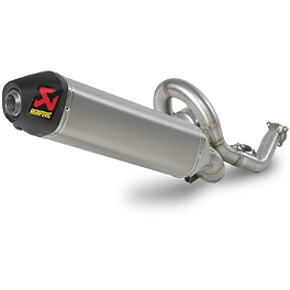 Akrapovic Racing Line Stainless Steel Hex System Spark Arrestor - Leo Vince X3 Motocross Full System - Stainless Steel/Titanium With Carbon Fiber End Cap