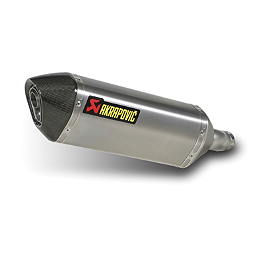 Akrapovic Slip-On Exhaust - Titanium - 2009 Kawasaki EX250 - Ninja 250 Akrapovic Slip-On Exhaust - Carbon Fiber