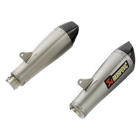 Akrapovic Evolution Slip-On For Akrapovic Headers - Titanium Dual Oval - Main
