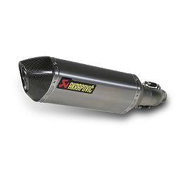 Akrapovic Slip-On EC Type Exhaust - Titanium - 2011 Suzuki GSX-R 600 Akrapovic Slip-On Exhaust - Titanium Megaphone