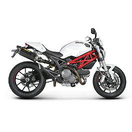 Akrapovic Slip-On Exhaust - Carbon Fiber - 2009 Ducati Monster 696 Akrapovic Slip-On Exhaust - Carbon Fiber