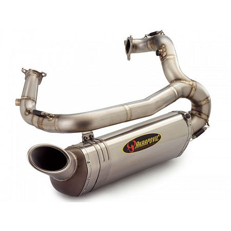 Akrapovic Superstock Slip-On Exhaust For Akrapovic Headers - Titanium - Main
