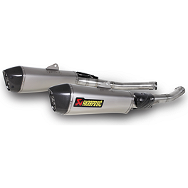 Akrapovic Slip-On Exhaust - Titanium With Titanium Link Pipe - Akrapovic Slip-On Exhaust - Titanium With Stainless Link Pipe