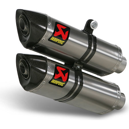 Akrapovic Slip-On Exhaust - Titanium - Main