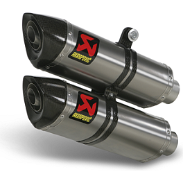 Akrapovic Slip-On Exhaust - Titanium - 2012 Ducati Streetfighter S Akrapovic Slip-On Exhaust - Carbon Fiber