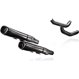 Akrapovic Slip-On Exhaust - Black - Akrapovic Open Line 2-Into-2 Exhaust - Chrome
