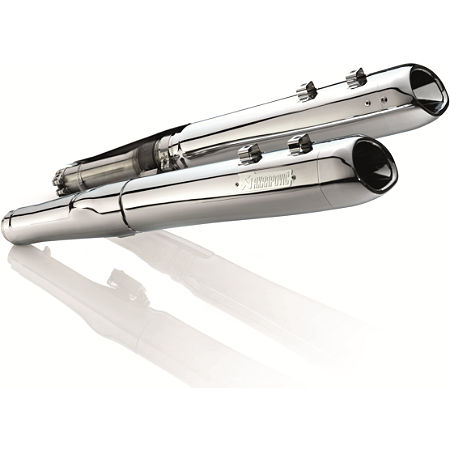 Akrapovic Slip-On Exhaust - Chrome With Chrome Tips - Main