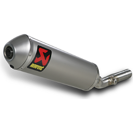 Akrapovic Slip-On Line Titanium Exhaust With Spark Arrestor - 2012 Suzuki RMZ450 Akrapovic Slip-On Line Titanium Exhaust With Spark Arrestor