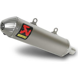 Akrapovic Slip-On Line Titanium Exhaust With Spark Arrestor - 2005 KTM 525SX Akrapovic Slip-On Line Titanium Exhaust With Spark Arrestor
