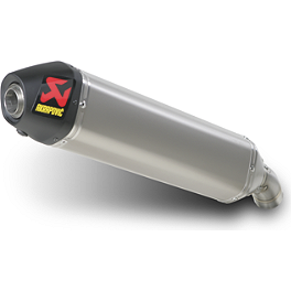 Akrapovic Slip-On Line Titanium Exhaust With Spark Arrestor - Akrapovic Evolution SXS Muffler with Spark Arrestor