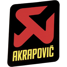 Akrapovic Vertical Sticker - Akrapovic Horizontal Sticker