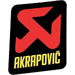Akrapovic Vertical Sticker - Akrapovic Dirt Bike Motorcycle Parts