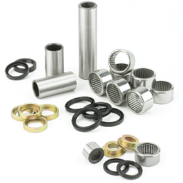 All Balls Linkage Bearing Kit - 2002 Honda CR80 Big Wheel Pivot Works Swing Arm Bearing Kit