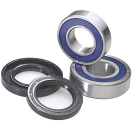 All Balls Rear Wheel Bearing Kit - ITP Lug Nut Set - 10X1.25mm Thread 14mm 60 Degree Tapered Head - Chrome