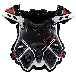 Alpinestars A-10 Bionic Neck Support Chest Protector - Black & Red - Acerbis Cosmo Motocross Roost Deflector