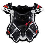 Alpinestars A-10 Bionic Neck Support Chest Protector - Black & Red - Alpinestars Dirt Bike Chest and Back
