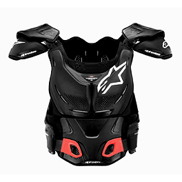 Alpinestars A-8 Protection Vest - Alpinestars A-10 Bionic Neck Support Chest Protector - Black & Red