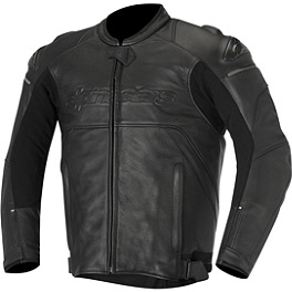Alpinestars Black Shadow Hades Leather Jacket - Alpinestars Black Shadow Huntsman Leather Jacket