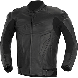 Alpinestars Black Shadow Phantom Leather Jacket - Alpinestars Black Shadow Huntsman Leather Jacket