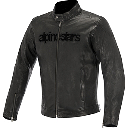 Alpinestars Black Shadow Huntsman Leather Jacket - Alpinestars Black Shadow Phantom Leather Jacket