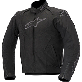 Alpinestars Jaws Waterproof Textile Jacket - Alpinestars Black Shadow Phantom Leather Jacket