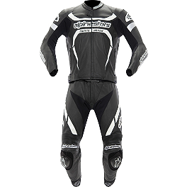 Alpinestars Motegi Leather Two-Piece Suit - Alpinestars Motegi Leather One-Piece Suit