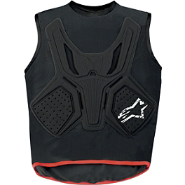 Alpinestars MX Tactic BNS Vest - 2008 Honda TRX450R (KICK START) Blingstar Notorious Nerf Bar - Polished Aluminum