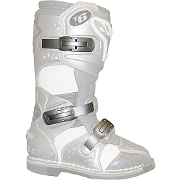 Alpinestars Women's Stella Tech-6 Buckles/Straps - Pro Circuit Stainless Steel Modular End Cap - 3.5